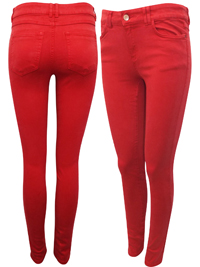 Clockhouse RED 5-Pocket Denim Skinny Jeans - Size 6 to 16