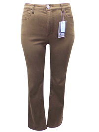 FDJ TAUPE Suzanne Slim Leg Denim Jeans - Size 8 to 22