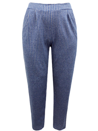 Ivans BLUE Pull On Tapered Leg Trousers - Plus Size 16 to 30/32