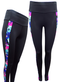 M&5 BLACK Panelled Sports Leggings - Size 10 to 22