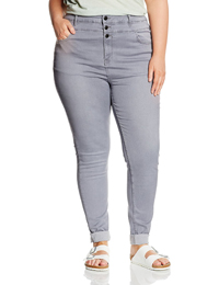 N3w L00k Inspire GREY High Waisted Skinny Jeans - Plus Size 18 to 28