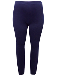 RedTag NAVY Cotton Rich Opaque Full Length Leggings - Plus Size 18 to 26