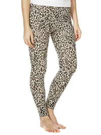 F&F CREAM Animal Print Full Length Leggings - Size Small to XLarge