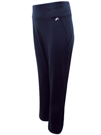 BLACK Wide Waist Full Length Joggers - Size XSmall to Large